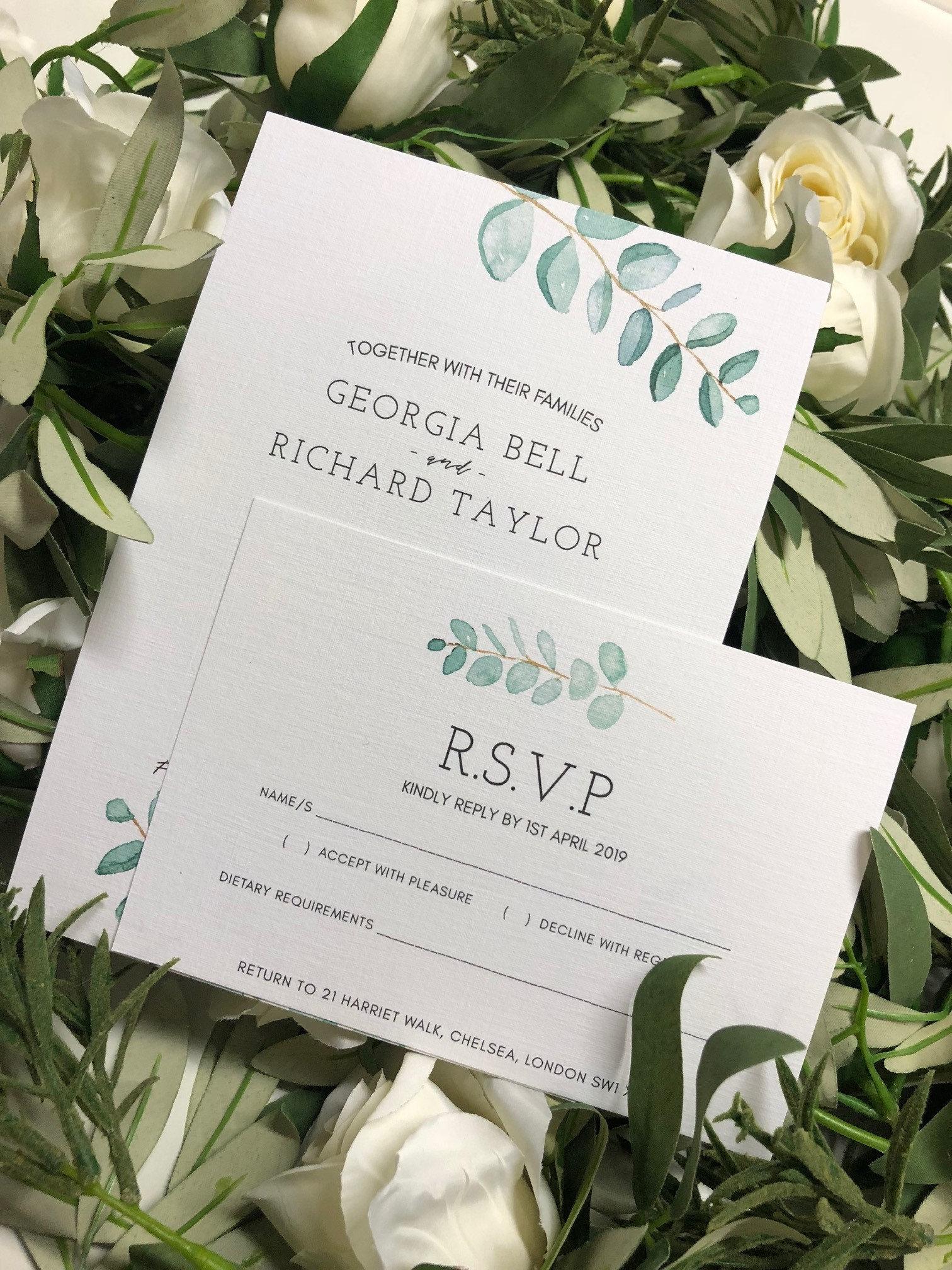 georgia wedding invitation sample with rsvp  wish card