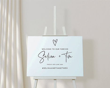Landscape Selina Wedding/Instagram Welcome Sign