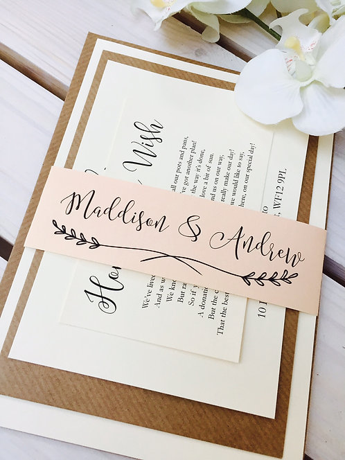 Maddison Wedding Invitation