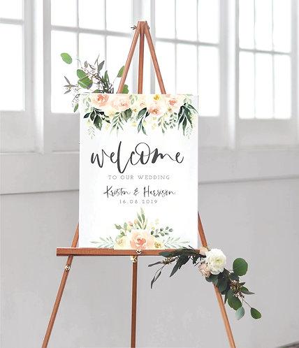 Portrait A2 Kristen Wedding Welcome Sign