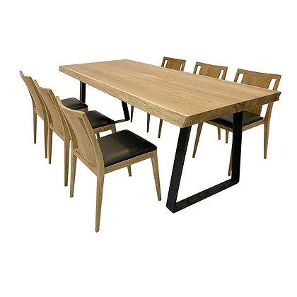 板片+鐵腳 餐桌