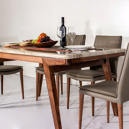 天然大理石桌面餐桌