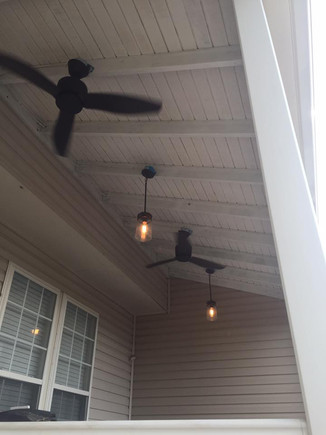 Deck fan and lighting