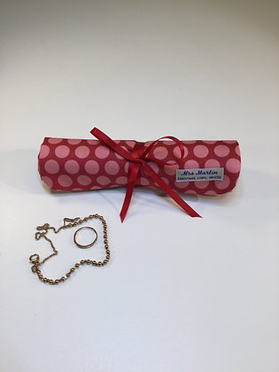 Handmade Padded Cotton Jewellery Roll