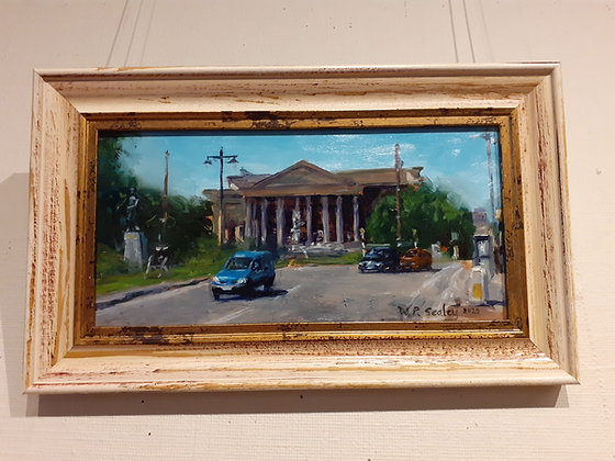 Framed Oil Painting of the Triangle in Bristol