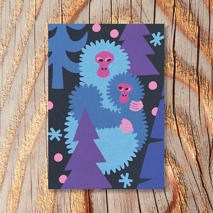 Snow Monkeys Card