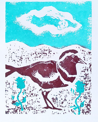 'There Are Different Ways to Fly, 2020' Lino Cut Print