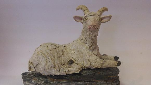 Sitting Stoneware Goat
