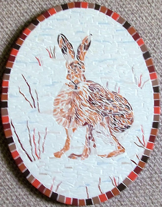 Winter Hare Mosaic Picture/panel