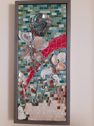 Shell Flower Mosaic Picture/Panel