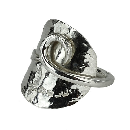 Silver Vintage Coffee Spoon Ring