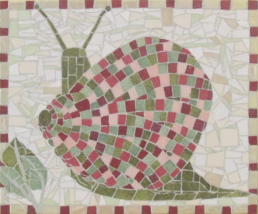 Snail Mosaic Picture Panel
