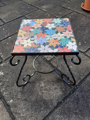Floral Mosaic Low Table