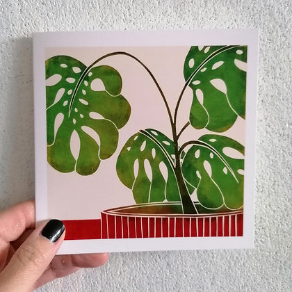 Swiss Cheese Plant card