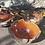 Thumbnail: Set of 3 Nesting Stone Dishes - rusty red/orange