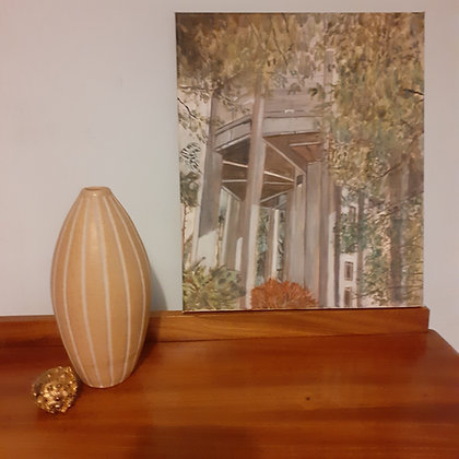 Oil Painting of Water Tower on Clifton Downs, Bristol