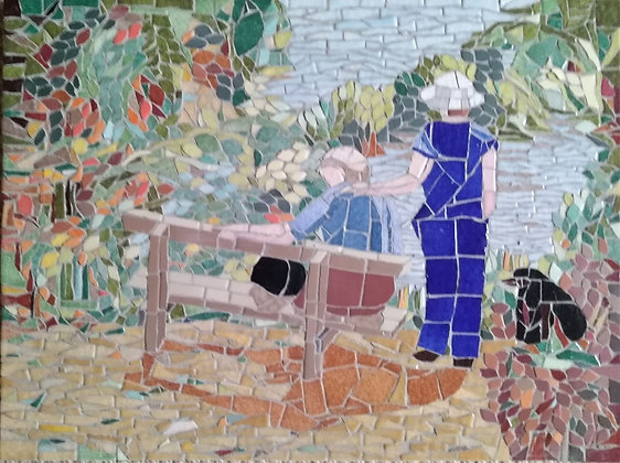 Beside the Lake Mosaic Picture/panel