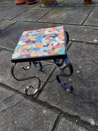 Square Mosaic Leaf-design Table