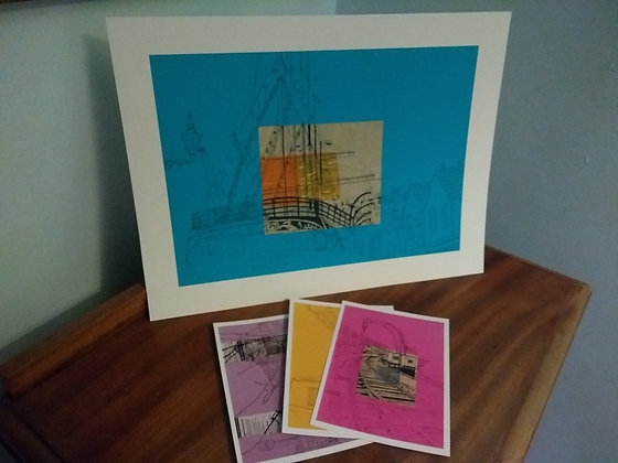 Art Print of SS Great Britain on blue