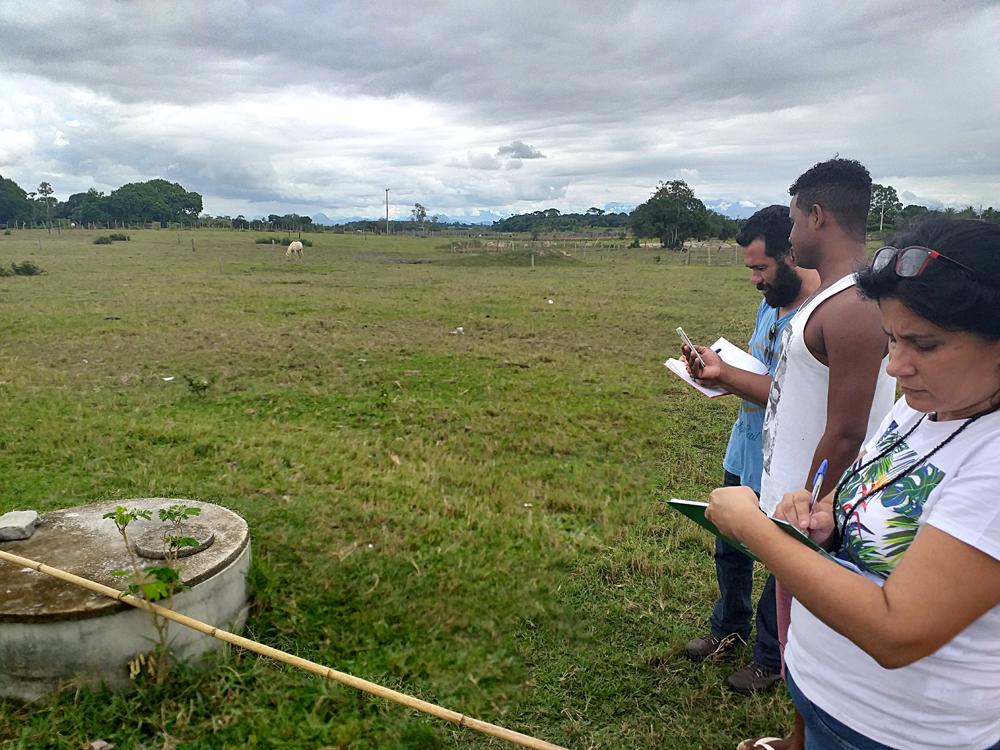 Reconhecimento de campo no Quilombo Santa Luzia