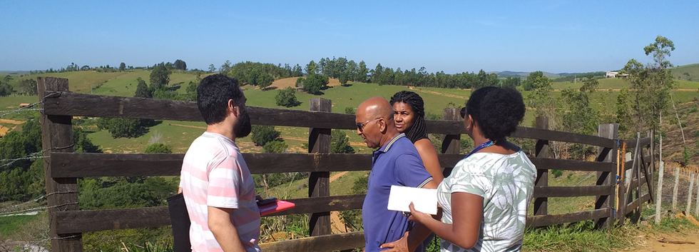 Reconhecimento de campo no Quilombo Conceição do Imbé