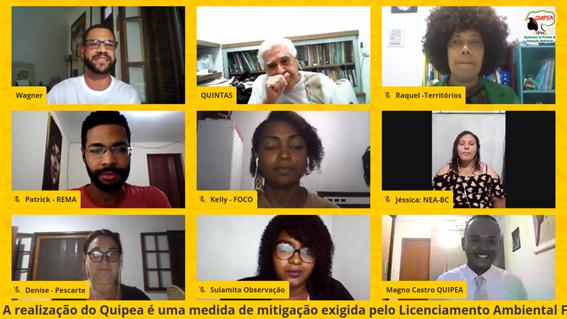Live do Quipea reúne comunitários de todos os Projetos de Educação Ambiental da Bacia de Campos