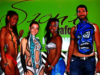 Body Painting at Saona Cafe