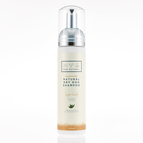 Sugar Candy & Aloe Vera Dry Foam Shampoo Wash 200ml by Paw Naturel