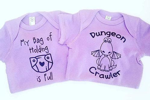 """""""Dungeon Crawler"""" Baby Onesie"""