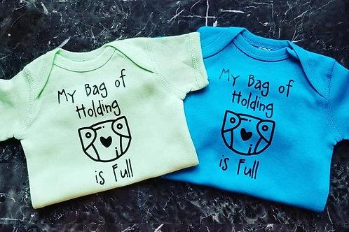 """My Bag of Holding is Full"" Baby Onesie"