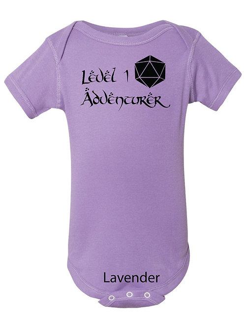 """""""Level 1 Adventurer"""" Baby Onesie"""
