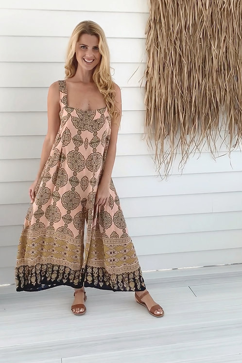 Moroccan Palazzo Jumpsuit Pink