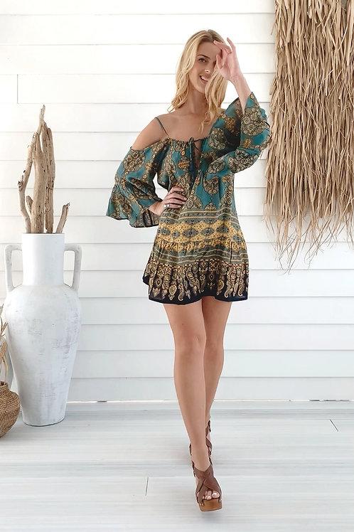 Moroccan Short Jade Dress