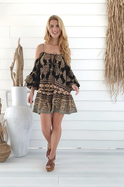 Moroccan Short Black Dress