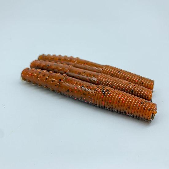 "2.75"" MidWest Finesse Worm (Brown & Orange)"