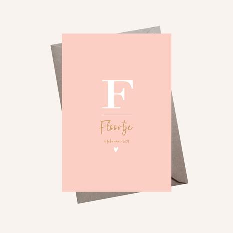Letterkaartje Floortje