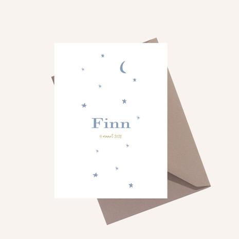 Geboortekaartje unisex Finn