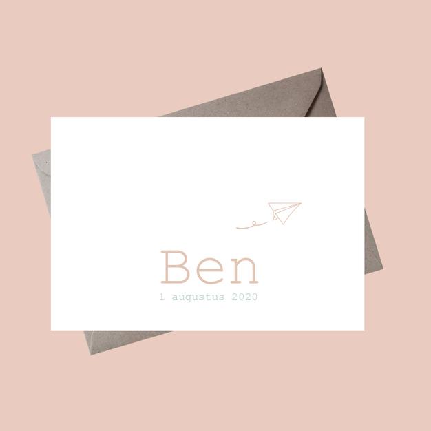 Geboortekaartje Ben