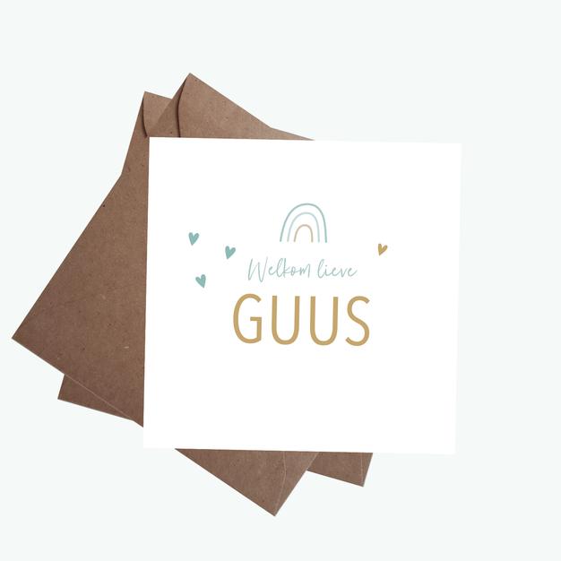 Geboortekaart Guus