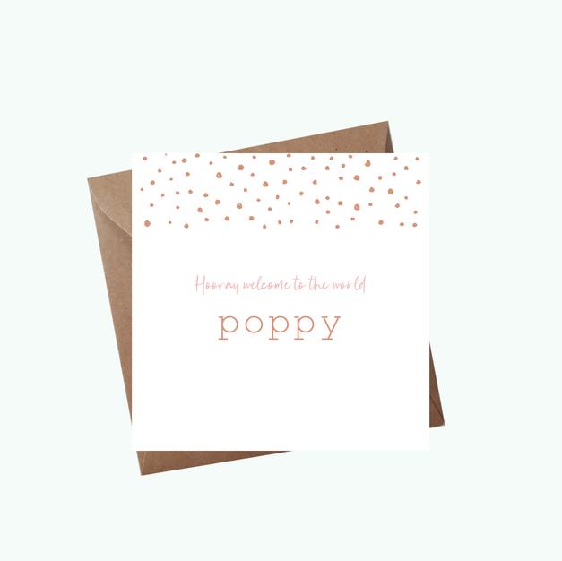 Geboortekaartje Poppy