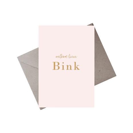 Geboortekaartje Bink