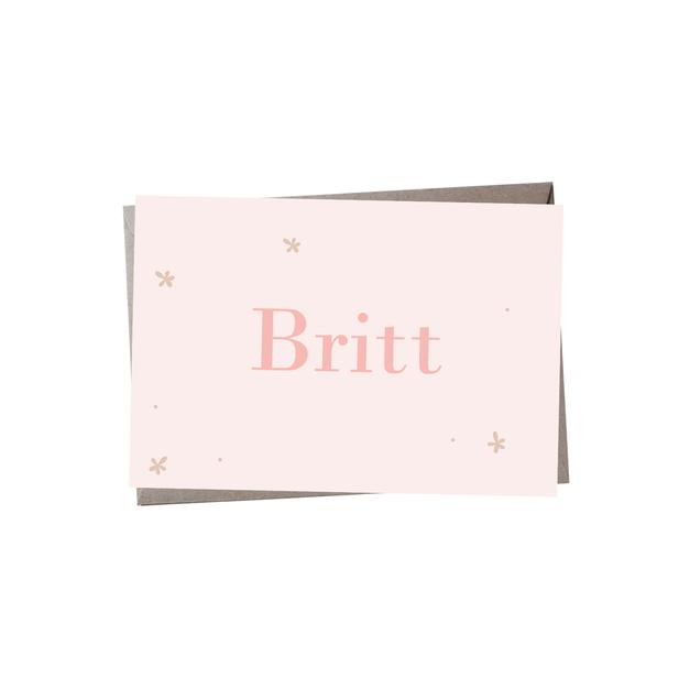 Geboortekaartje Britt