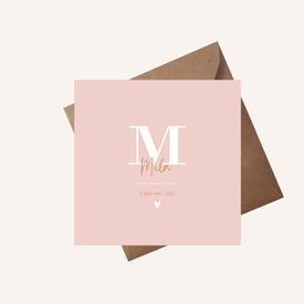 Letterkaartje Mila