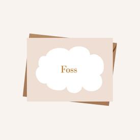 Geboortekaartje Foss