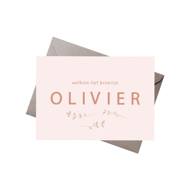 Geboortekaartje Olivier
