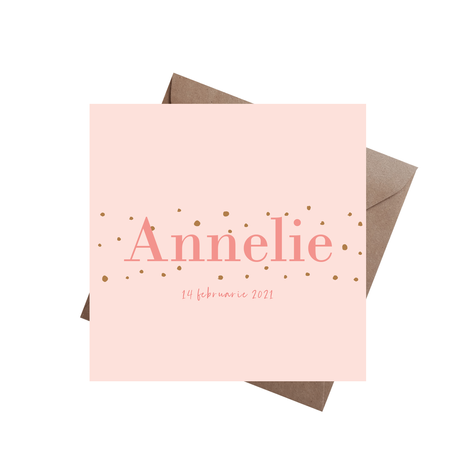 Geboortekaartje Annelie