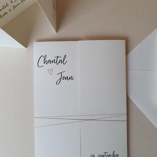 Trouwkaart Chantal en Joan