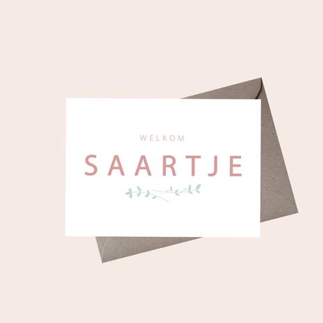 Geboortekaartje Saarje