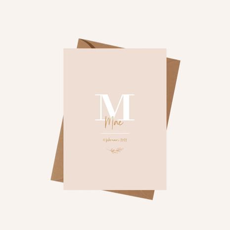 Geboortekaartje Mae