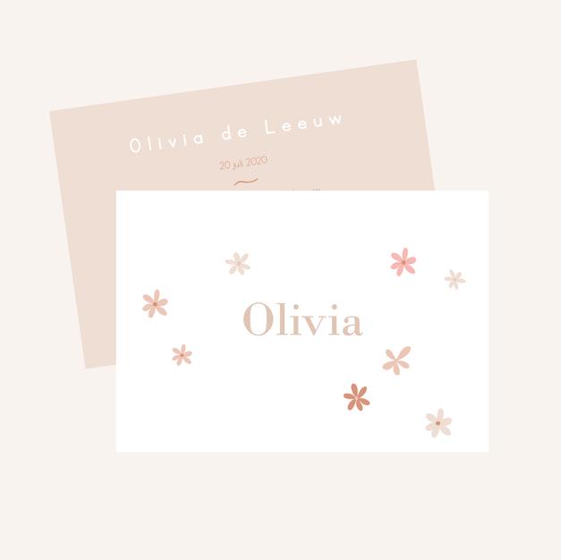 Geboortekaart Olivia